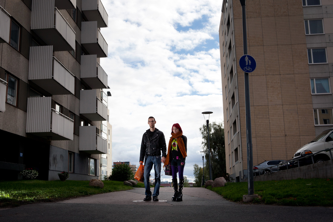 Image: Harri Jussila (left), 24 and Martiina Vainikainen, 23