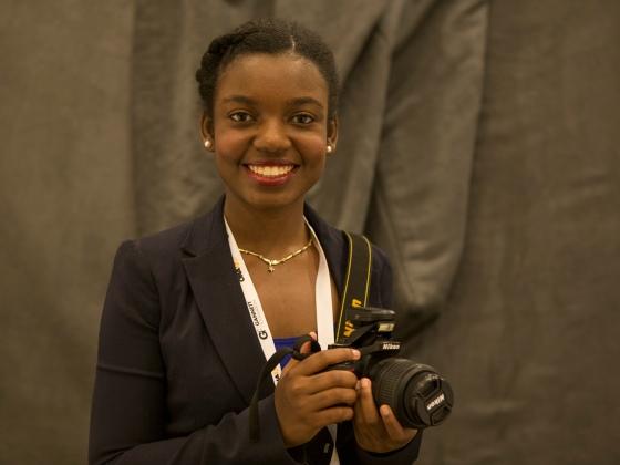 Nathalie Dortonne, University of Florida visual journalism student. (Haiyun Jiang/ONA Student Newsroom)