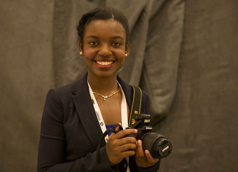 Nathalie Dortonne, University of Florida visual journalism student. (Haiyun Jiang/ONA Student Newsroom)